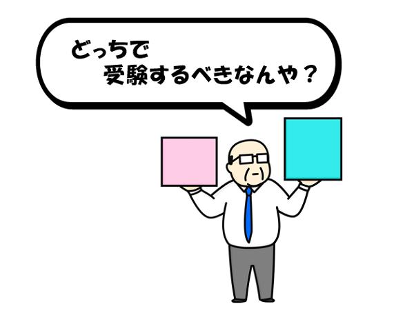 きんざいと日本FP協会で悩む男性